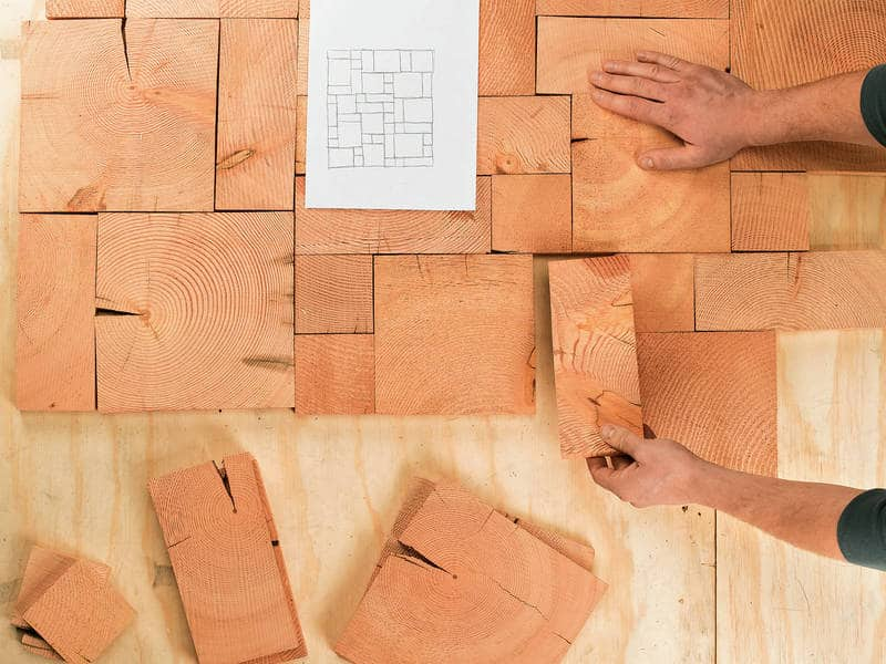 Figuring out tile pattern - End grain flooring