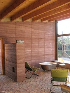 Rammed earth home - interior