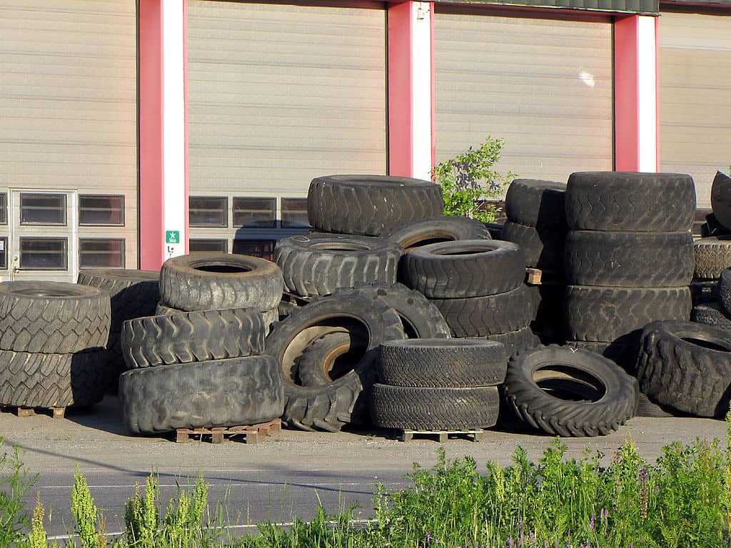 How to make rubber shingles out of old tires