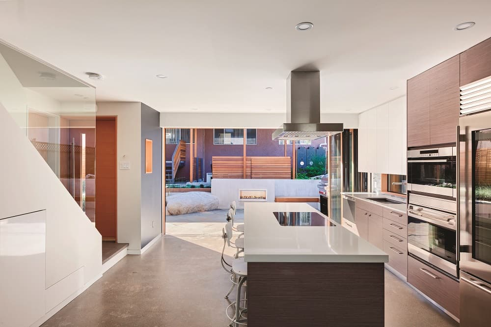 Kitchen of solar laneway house - Sharing the land with a solar laneway house