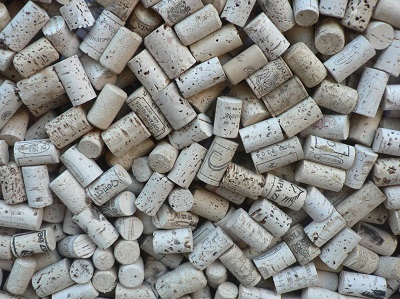 Large group of wine corks - Green construction