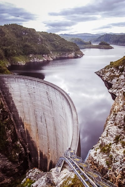 Dam collecting water for hydropower - 5 types of renewable energy all homeowners should investigate