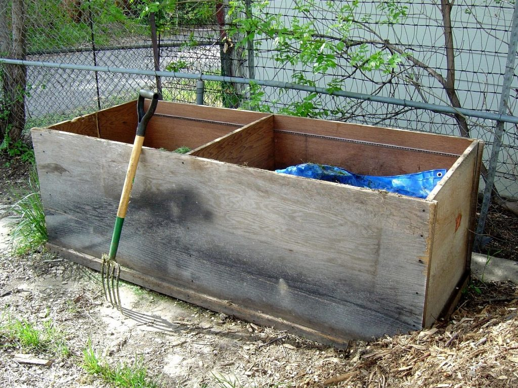 Double-sided compost bin. Photo from Pixnio.