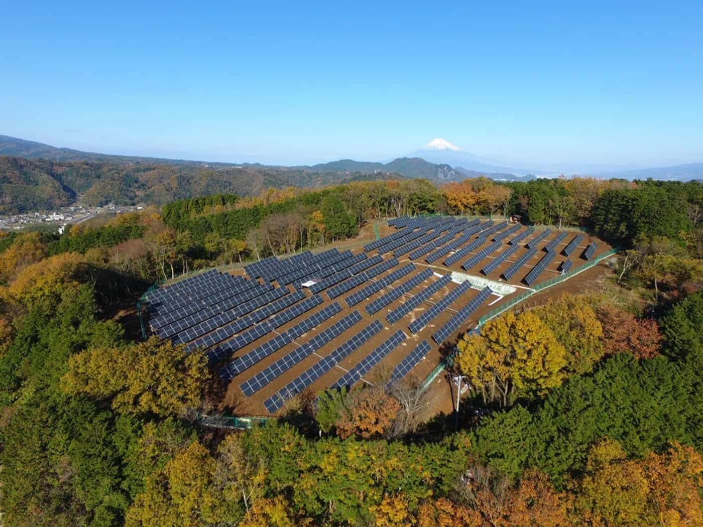 Bird's-eye view of solar panels from Mark Merner via Unsplash