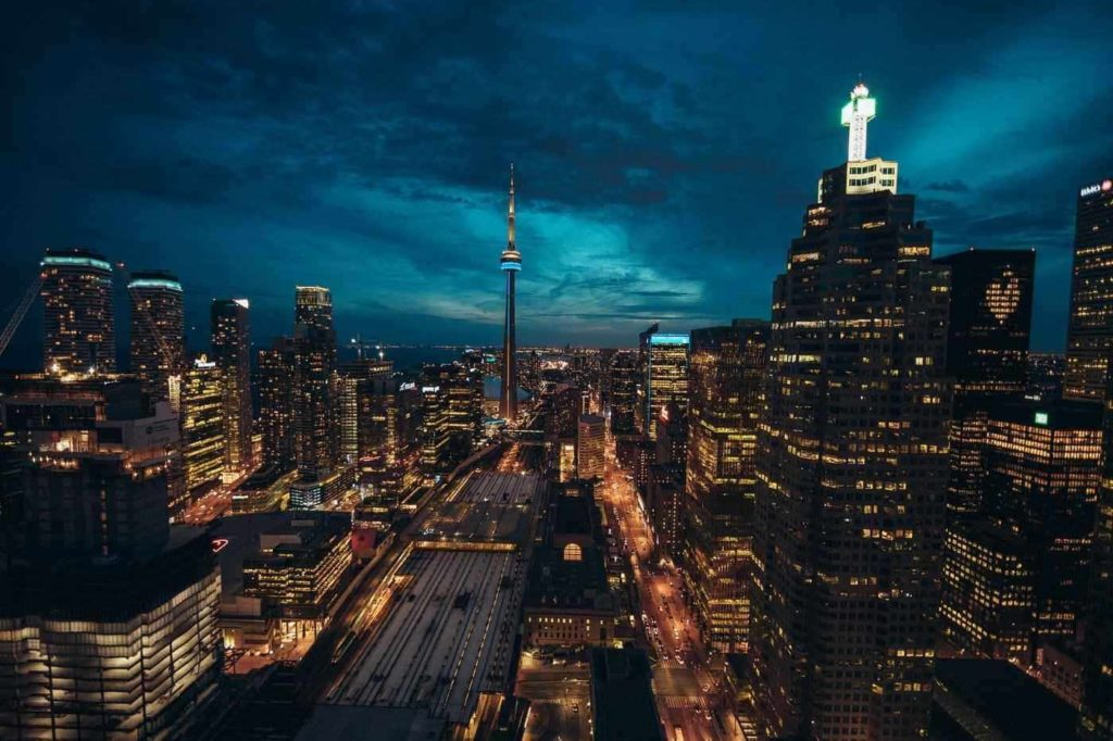 toronto skyline at night - ways toronto residents can contribute to ongoing green efforts